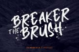 Last preview image of Breaker The Brush Typeface