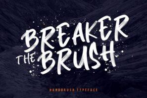 Breaker The Brush Typeface