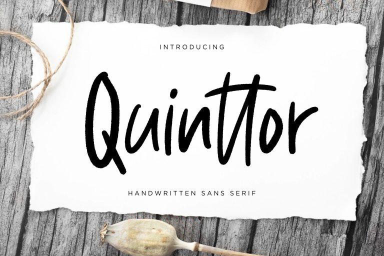 Preview image of Quinttor Sans Serif