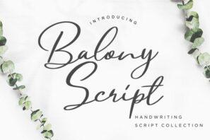 Balony Script Handwriting