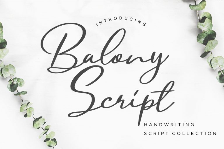 Preview image of Balony Script Handwriting