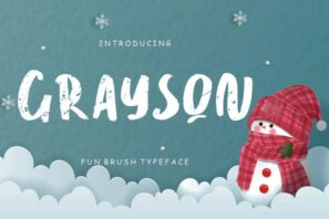 Grayson Fun Brush Typeface