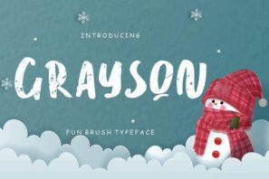 Grayson Fun Brush Typeface