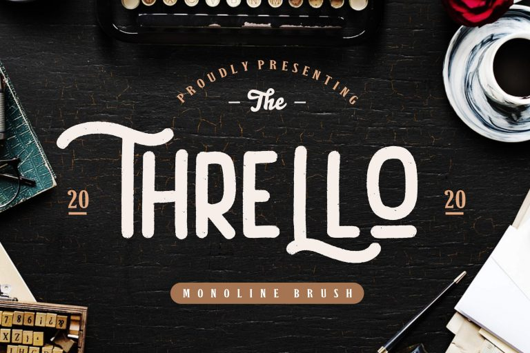 Preview image of Thrello Monoline Brush