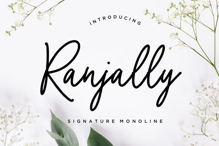 Preview image of Ranjally Monoline Signature