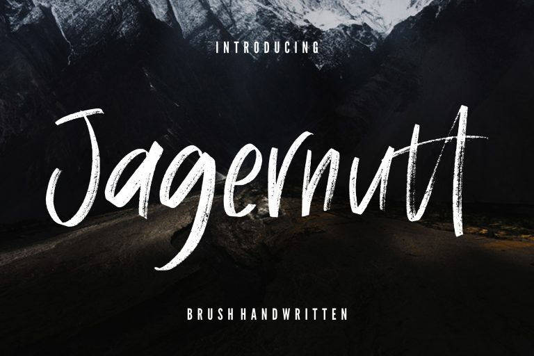 Preview image of Jagernutt Brush Handwritten
