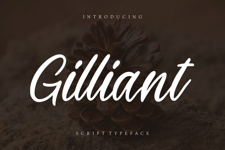 Preview image of Gilliant Script Typeface