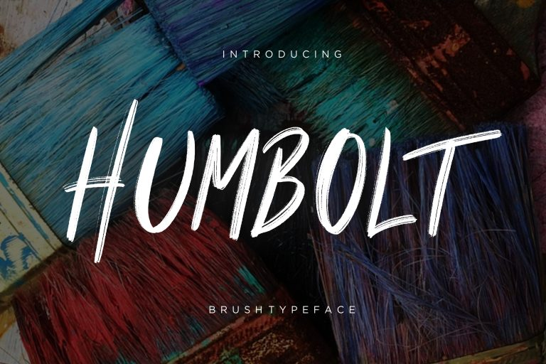 Preview image of Humbolt Brush Typeface