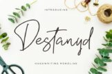 Last preview image of Destanyd Handwriting Monoline
