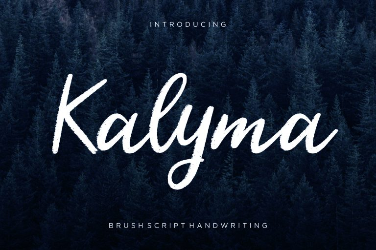 Preview image of Kalyma Brush Script