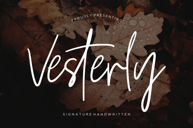Preview image of Vesterly Signature Handwritten