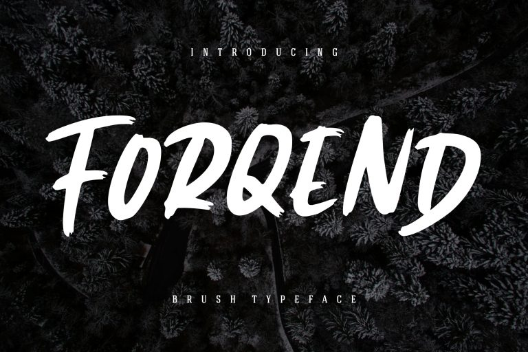 Preview image of Forqend Brush Typeface