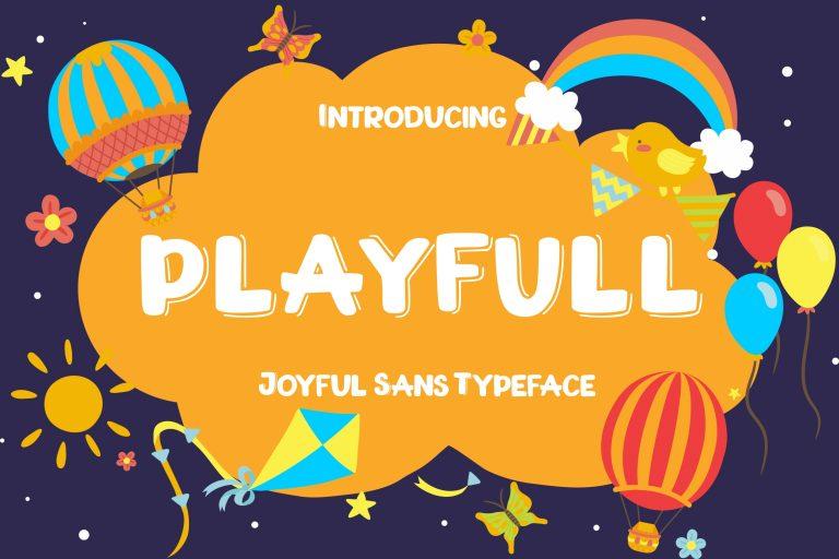 Preview image of Playfull Joyful Sans