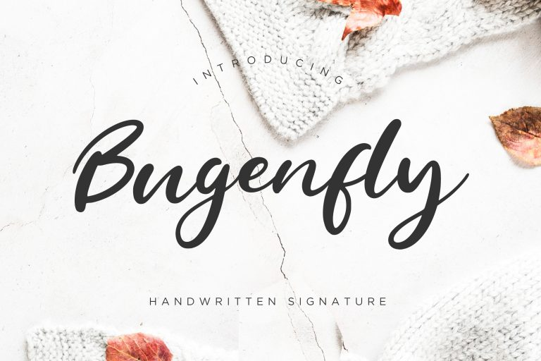 Preview image of Bugenfly Handwritten Signature