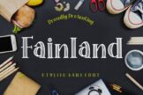 Last preview image of Fainland Stylish Sans