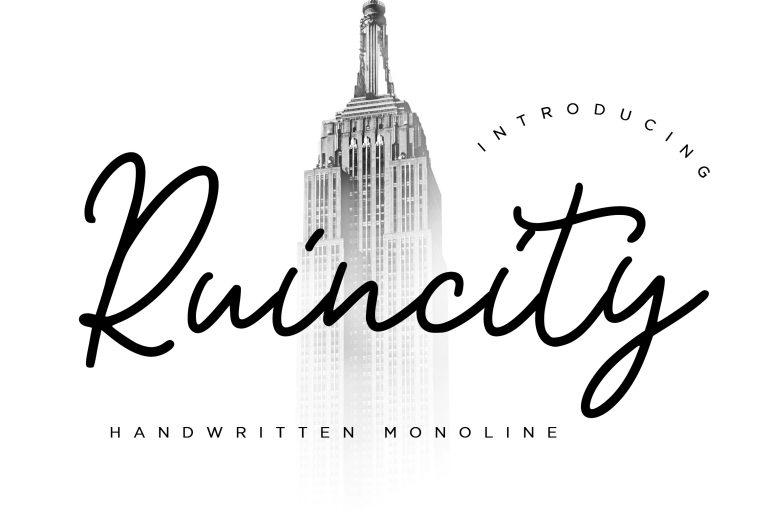 Preview image of Ruincity Handwritten Monoline