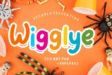 Last preview image of Wigglye Joy & Fun Typeface