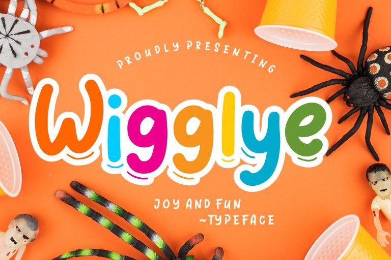 Preview image of Wigglye Joy & Fun Typeface