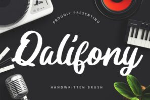 Qalifony Handwritten Brush