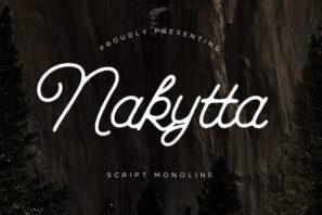 Nakytta Monoline Script