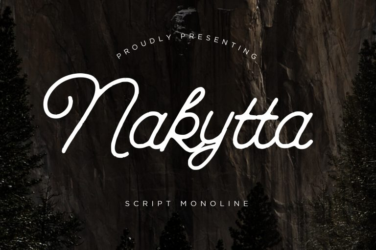 Preview image of Nakytta Monoline Script