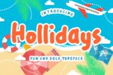 Last preview image of Hollidays Fun Children Typeface