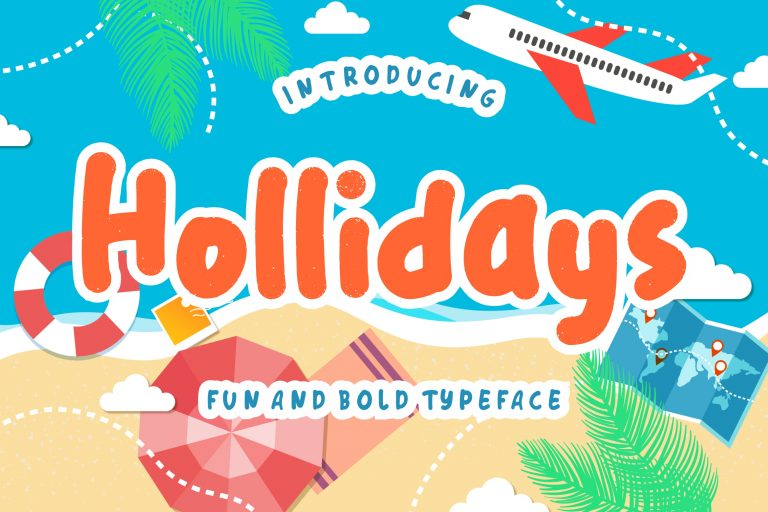 Preview image of Hollidays Fun Children Typeface