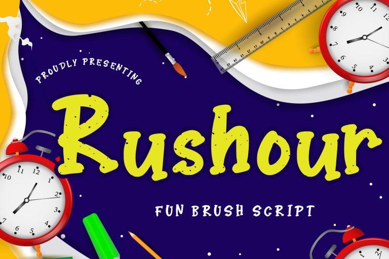 Preview image of Rushour Fun Brush Script