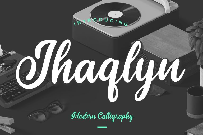 Preview image of Jhaqlyn Modern Calligraphy