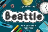 Last preview image of Beattle Fun Children Typeface