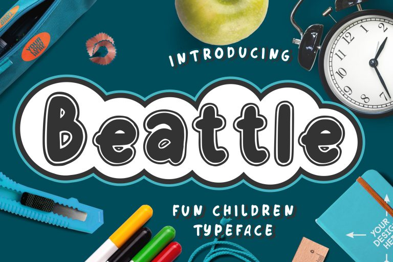 Preview image of Beattle Fun Children Typeface