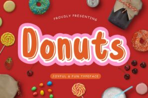 Donuts Joyful & Fun Typeface