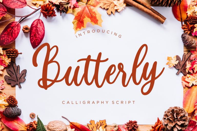 Preview image of Butterly Calligraphy Script