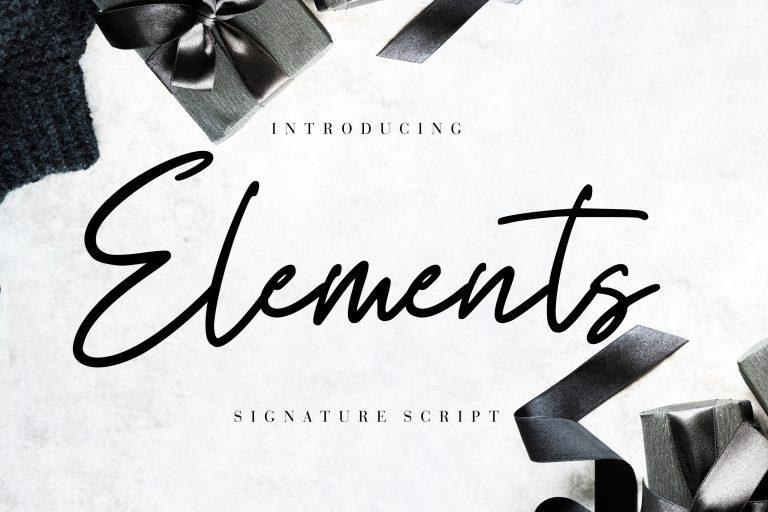 Preview image of Elements Signature Script