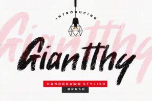 Giantthy Handdrawn Stylish Brush
