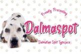 Last preview image of Dalmaspot Dalmatian Spot Typeface