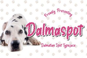 Dalmaspot Dalmatian Spot Typeface