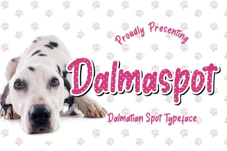 Preview image of Dalmaspot Dalmatian Spot Typeface
