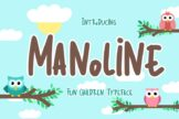Last preview image of Manoline Fun Children Typeface