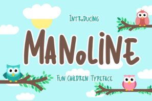 Manoline Fun Children Typeface