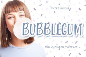 Bubblegum Fun Children Typeface