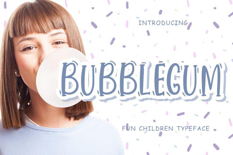 Preview image of Bubblegum Fun Children Typeface