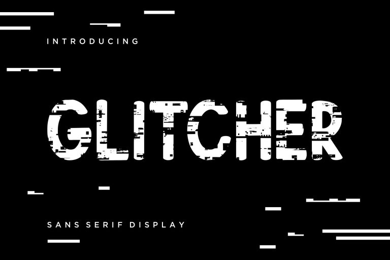 Preview image of Glitcher Sans Serif Display