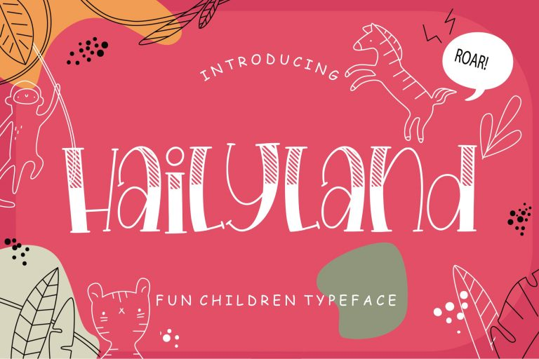 Preview image of Hailyland Fun Children Typeface