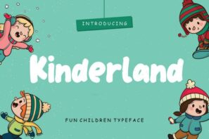 Kinderland Fun Children Typeface