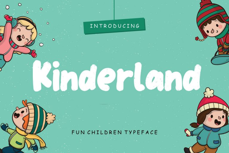 Preview image of Kinderland Fun Children Typeface