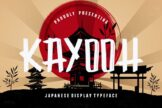 Last preview image of Kayooh Japanese Display Typeface