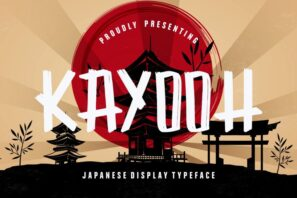 Kayooh Japanese Display Typeface
