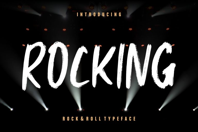 Preview image of Rocking Rock & Roll Typeface