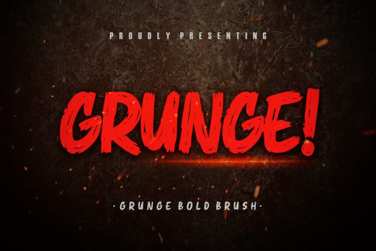 Preview image of Grunge! Bold Brush Typeface